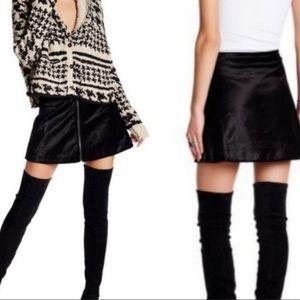 Free People velvet black mini skirt